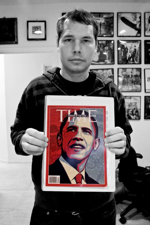 Creator Of Obama Picture Upset Over Warren Invite